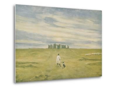 Stonehenge and Figure, 1910