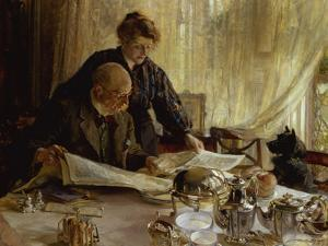 """""""Despatches - Is He Mentioned"""", 1917 by Edgar Bundy"""
