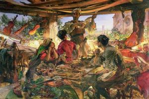 Stradivarius in His Workshop at Cremona, 1913 by Edgar Bundy