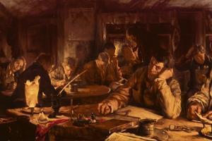 The Night School, 1892 by Edgar Bundy