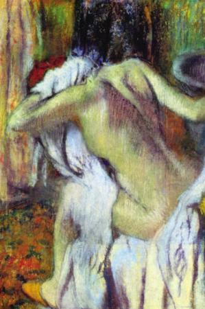 After Bathing by Edgar Degas