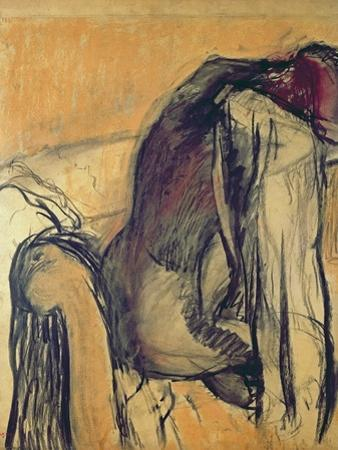 After the Bath, 1905-7 by Edgar Degas
