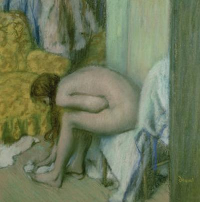 After the Bath, Woman Drying Her Left Foot, 1886 by Edgar Degas