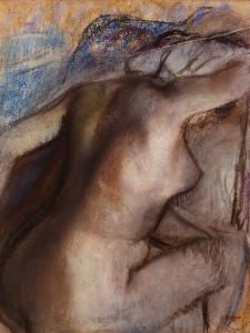 After the Bath, Woman Drying Herself by Edgar Degas