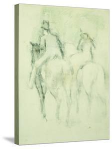 Amazone Et Cavalier by Edgar Degas