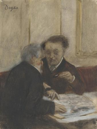 At the Café Châteaudun, C. 1870 by Edgar Degas