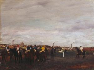 At the Racecourse, before the Race, 1872/73 by Edgar Degas