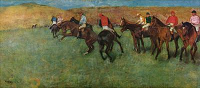 At the Races - Before the Start by Edgar Degas