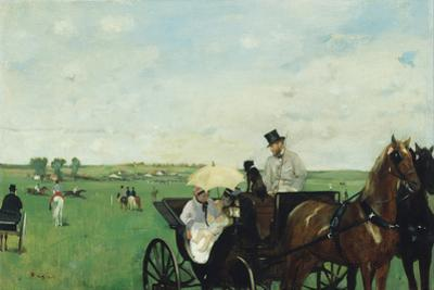 At the Races in the Countryside, 1869 by Edgar Degas
