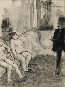 Au salon by Edgar Degas