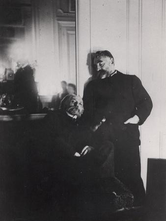Auguste Renoir and Stephane Mallarme by Edgar Degas