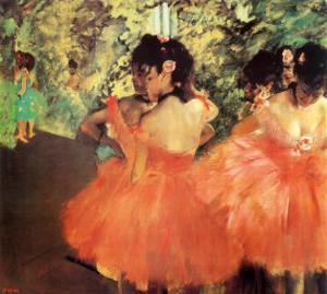 Ballerina in Red by Edgar Degas