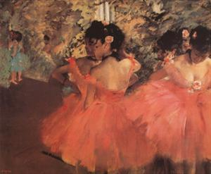 Ballerina in Red by Edgar Degas