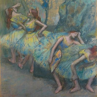 Ballet Dancers in the Wings, C.1890-1900 by Edgar Degas