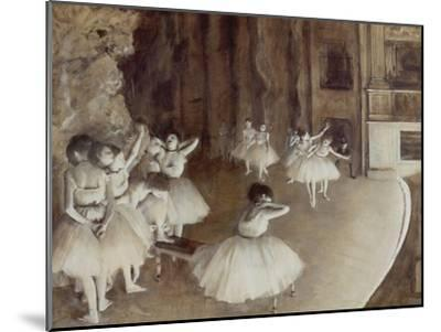 Ballet Rehearsal on Stage, 1874 by Edgar Degas