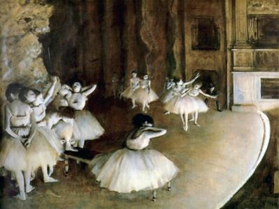 Ballet Rehearsal on Stage, 1874