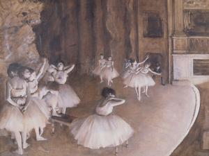 Ballet Rehearsal on the Stage, 1874 by Edgar Degas