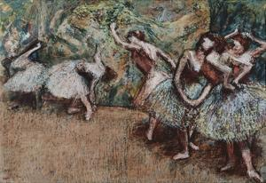 Ballet Scene, about 1907 by Edgar Degas