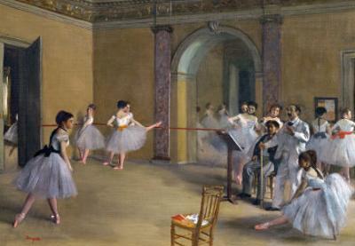 Ballet Studio at the Opera in Rue Le Peletier, 1872 by Edgar Degas