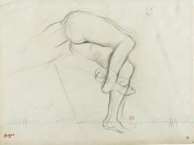 Bassin et jambes d'une figure nue, allongée by Edgar Degas