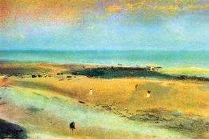Beach at Low Tide by Edgar Degas