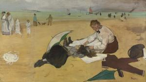Beach Scene, C. 1869 by Edgar Degas