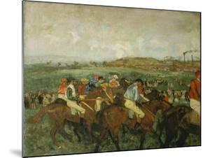 Before the Race (Course De Gentlemen), 1862 by Edgar Degas