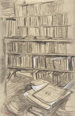 Bookshelves by Edgar Degas