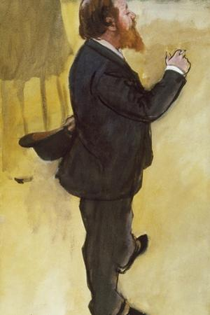 Carlo Pellegrini by Edgar Degas