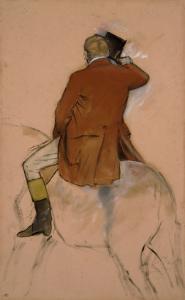 Cavalier en habit rouge by Edgar Degas