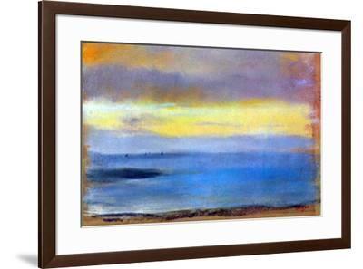 Edgar Degas Coastal Strip at Sunset-Edgar Degas-Framed Art Print