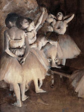 Dance Foyer at Opera (Paris) by Edgar Degas