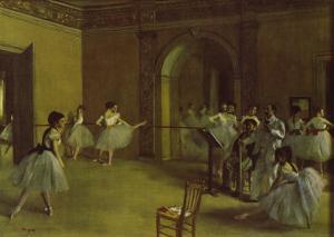 Dance Foyer at the Opera by Edgar Degas