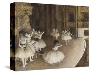 Dance Rehearsal, 1874 by Edgar Degas