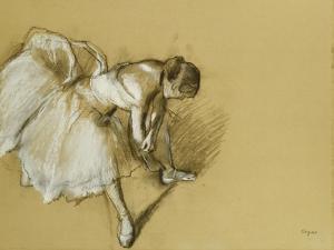 Dancer Adjusting Her Shoe, circa 1890 by Edgar Degas