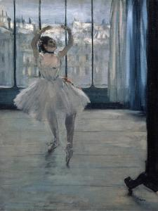 Dancer at the Photographer, 1875 by Edgar Degas