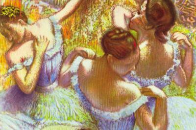 Dancer In Blue by Edgar Degas