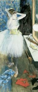 Dancer in Her Dressing Room, C.1879 by Edgar Degas