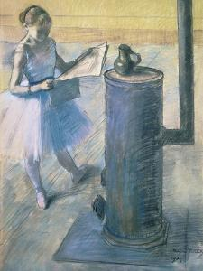 Dancer Reading the Newspaper, C. 1880 by Edgar Degas