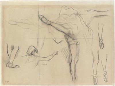 Dancer - Six Sketches by Edgar Degas