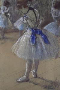 Dancer Tying a Bow by Edgar Degas