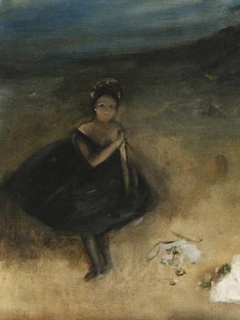 Dancer with a Bouquet; La Danseuse Au Bouquet by Edgar Degas