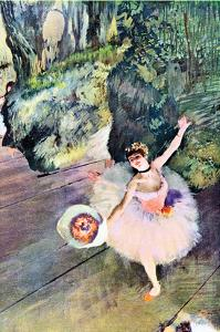 Dancer with a Bouquet of Flowers (The Star of the Ballet) by Edgar Degas