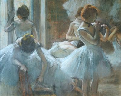 Dancers at Rest by Edgar Degas