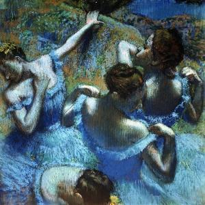 Dancers in Blue, C1898 by Edgar Degas