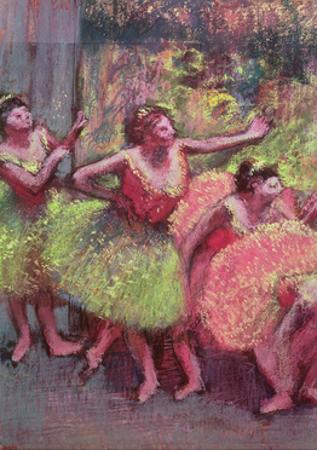 Dancers in Lemon and Pink by Edgar Degas