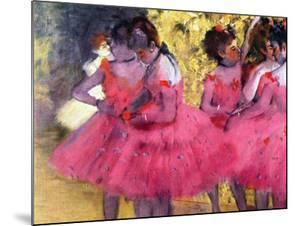 Dancers in Pink, Between the Scenes by Edgar Degas