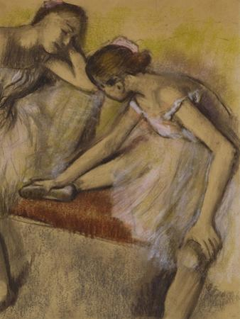 Dancers in Repose, C.1898 (Pastel and Charcoal on Wove Paper)
