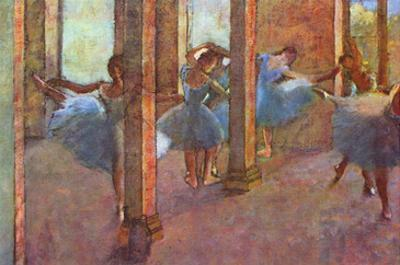 Dancers in the Foyer by Edgar Degas