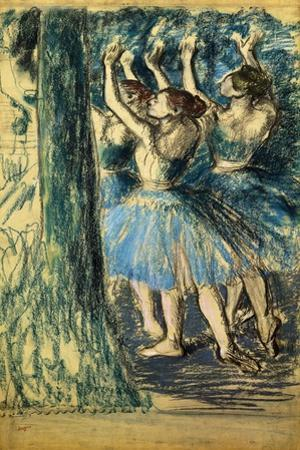 Dancers in the Scene; Danseuses En Scene, C. 1898 by Edgar Degas